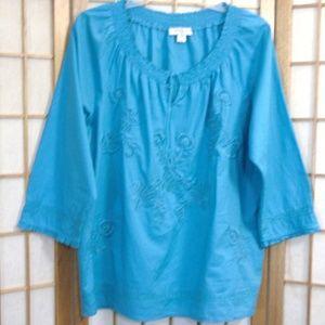 Coldwater Creek Peasant Shirt Size Large